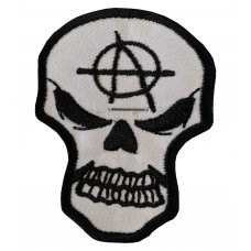 Anarchy Skull Embroidered Patch