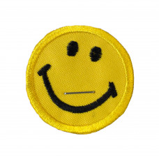Smiley Embroidered Patch