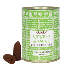 Goloka Nature's Jasmine Backflow Incense Cones