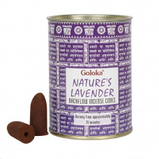 Goloka Nature's Lavender Backflow Incense Cones