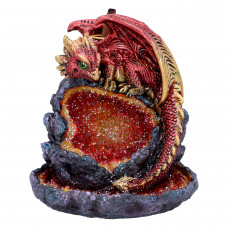 Crystalline Guardian Backflow Incense Burner (14.2cm)