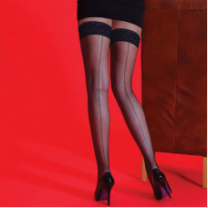 Fishnet Backseam Lace Hold Ups