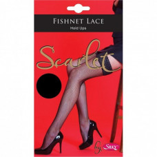 Fishnet Lace Top Hold Ups