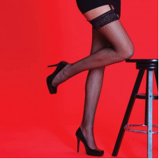Fishnet Lace Top Stockings