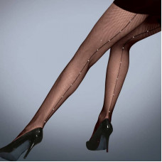 Diamante Fishnet Backseam Tights