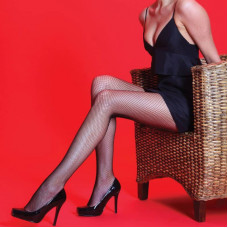 Fishnet Tights (Red)