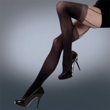 Mock Lace Suspender Tights 50 Denier