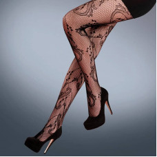 Vine Fishnet Tights