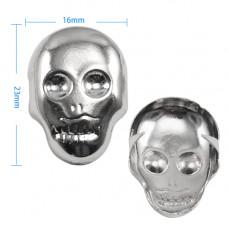 Silver Skull Studs